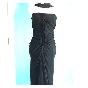 Yves Saint Laurent Ruched Cocktail Dress